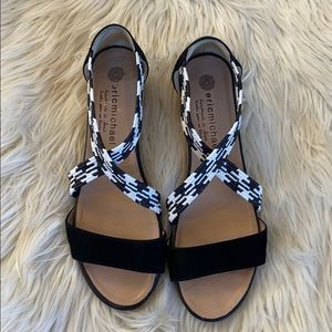 Adorable black and white Eric Michael shoes